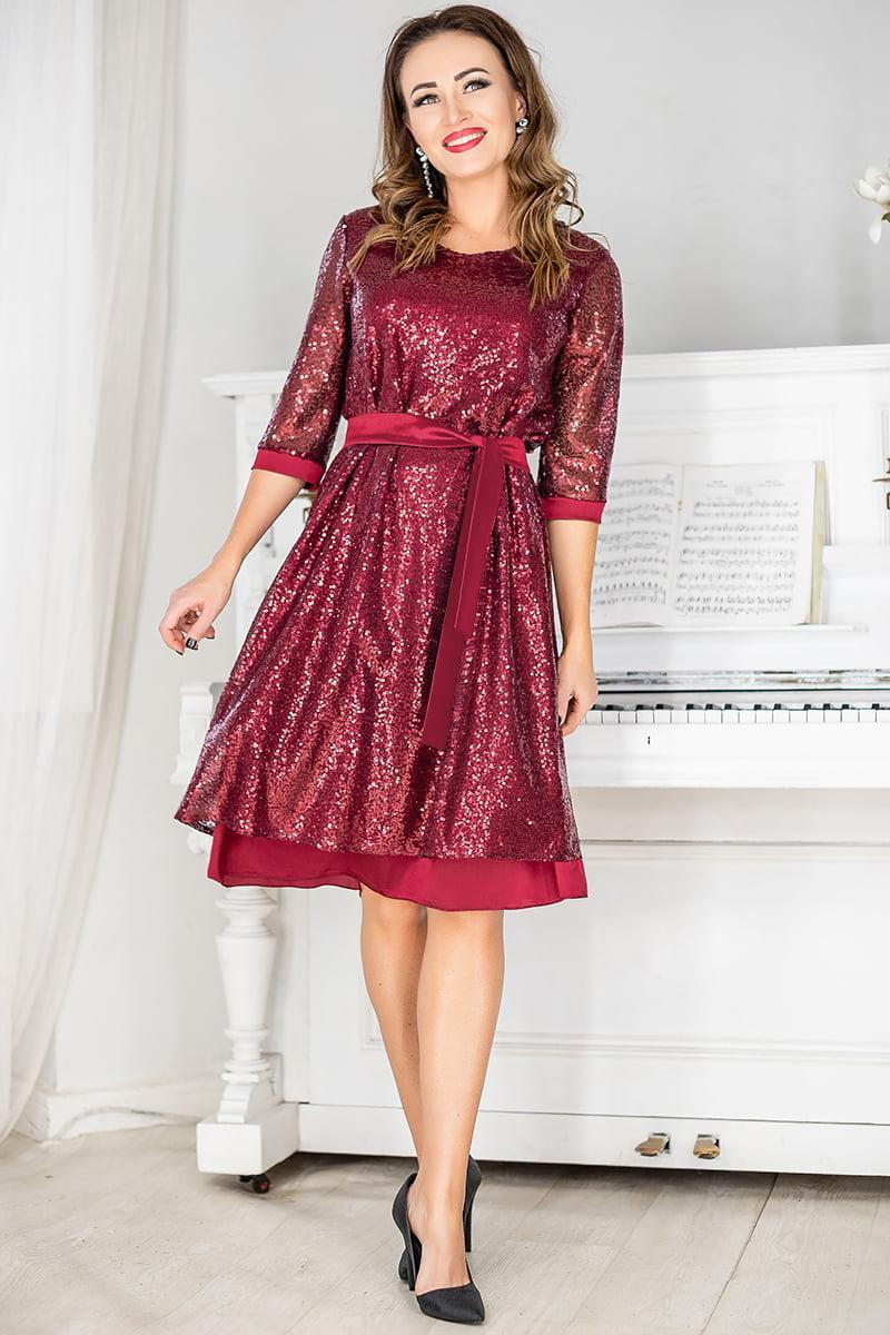 Нарядна сукня з паєтками Россі
