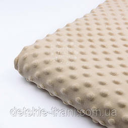 Відріз плюшу minky класичного бежевого кольору, 100*80 см