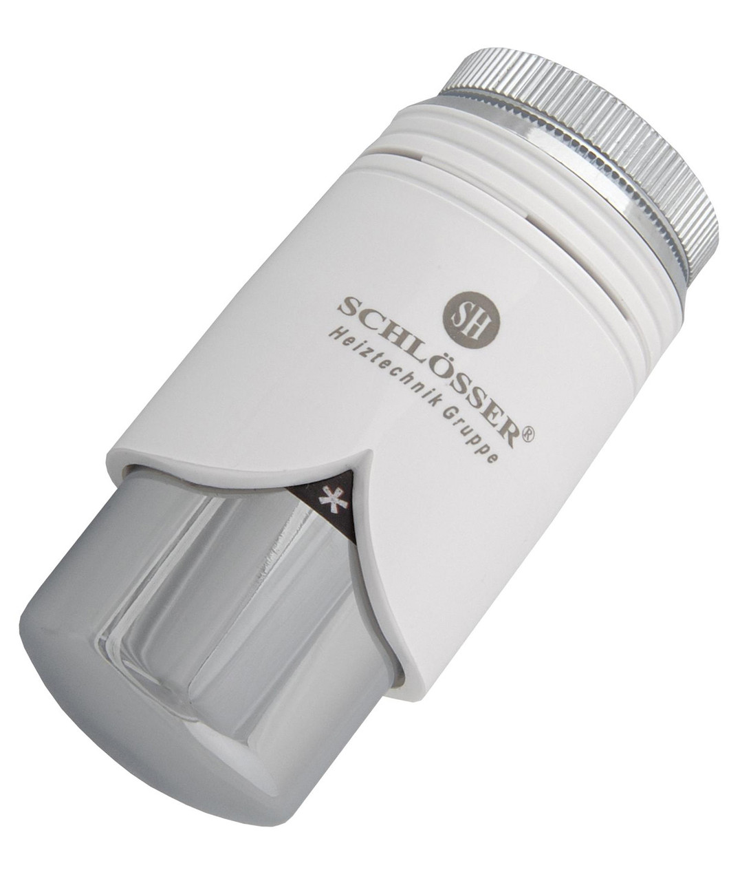 Термостатическая головка Schlosser SH Brillant Белая - Хром