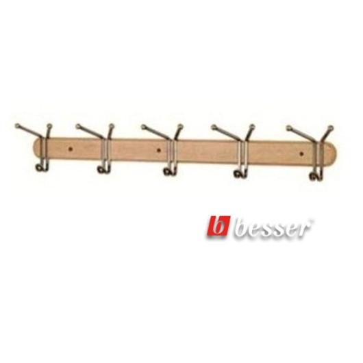 Вешалки для одежды на деревянной планке Besser 0905