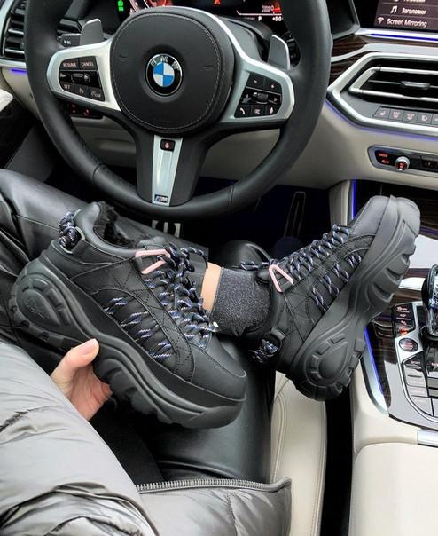 Женские зимние кроссовки Buffalo London Classic Leather Boots, Реплика Люкс