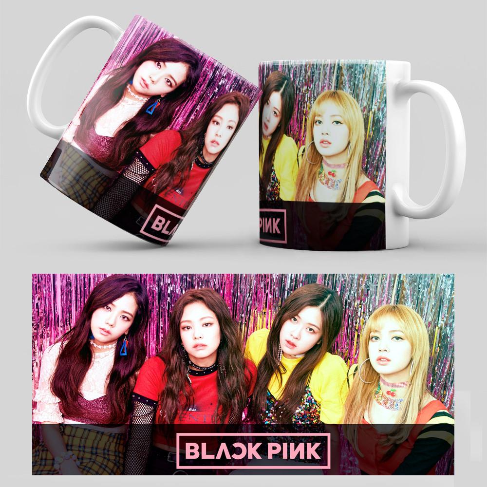Чашка 330 мл. белая K-Pop Black Pink 006