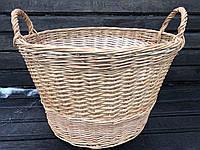 """Плетеные корзины для камина из лозы """"Круглая"""" большая"""