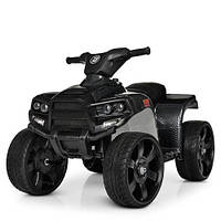 Детский электромобиль Квадроцикл M 3893 ELM-19, кожаное сиденье, колеса EVA, музыка, свет, карбон