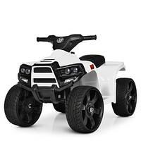 Детский электромобиль Квадроцикл M 3893 EL-1, кожаное сиденье, колеса EVA, белый