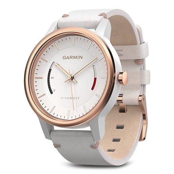 Фітнес годинник Garmin Vivomove Classic Rose Gold-Tone with Leather Band