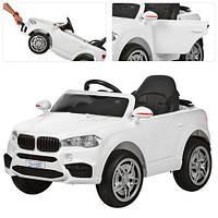 Детский электромобиль BMW M 3180 EBLR-1, мягкое сиденье, белый