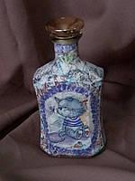 Эксклюзивная бутилка КОНЬЯКА в технике декупаж ручной работы