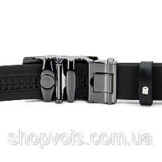 Мужской кожаный ремень Черный (автомат), фото 2