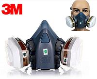Полумаска респиратор 3М 7502 + Фильтра 6051