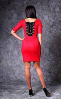 Сексуальное блестящее платье красного цвета Poliit № 8656