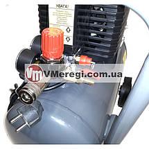 Компрессор для дома поршневой воздушный Forte FL-2T24N одноцилиндровый 24л 1,5кВт, фото 3