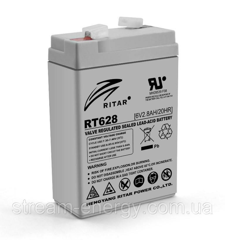Аккумулятор AGM Ritar (6В -2,8Ач) RT628