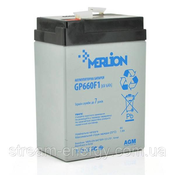 Акумулятор AGM Merlion (6В -6Ач) GP660F1