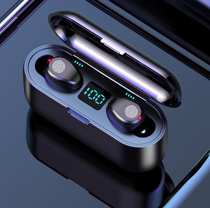 Беспроводные сенсорные наушники гарнитура с павербанком Amoi F9-touch