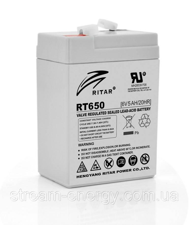 Аккумулятор AGM Ritar (6В -5Ач) RT650