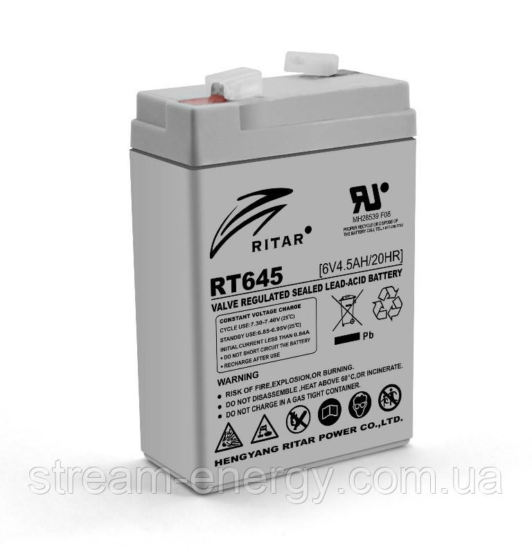 Аккумулятор AGM Ritar (6В -4,5Ач) RT645
