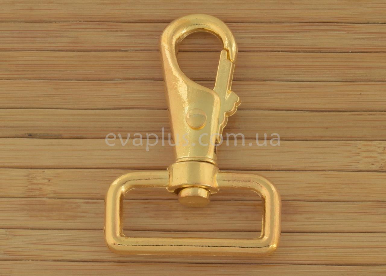 Карабин для сумки 32 мм. 132з (золото)