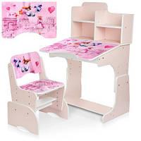 """Детская регулируемая парта со стульчиком """"Париж"""" B 2071-82-1, розовая"""