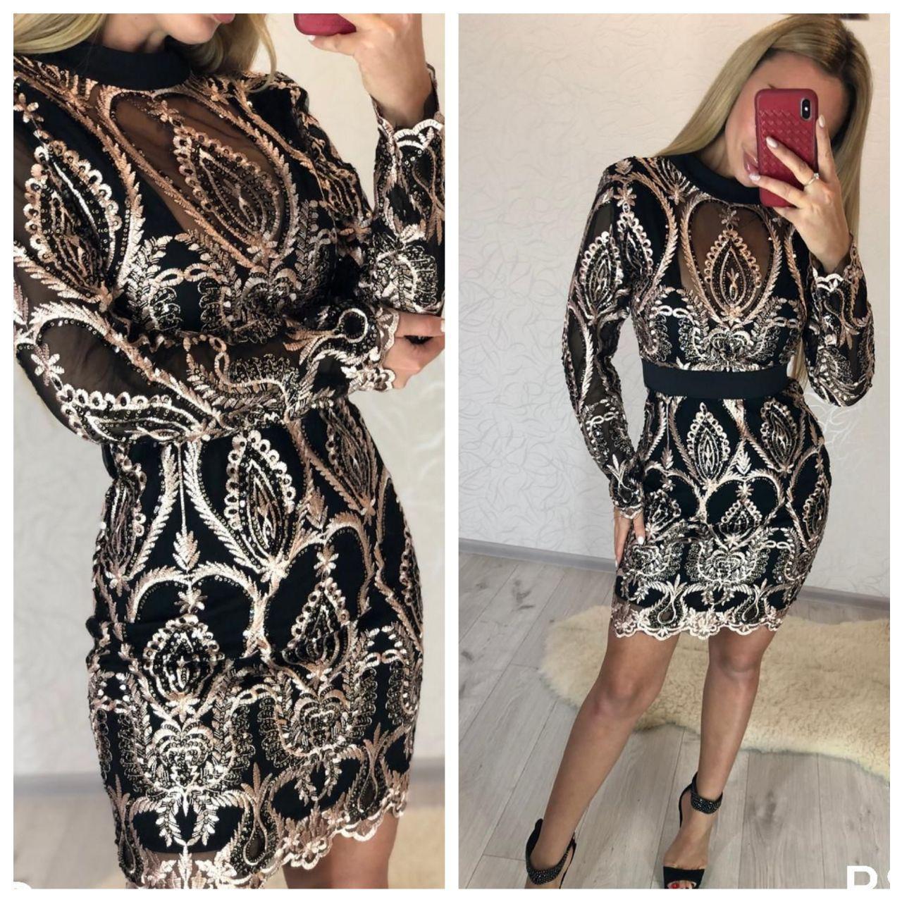 Шикарное платье.Ткань дорогой гипюр  Разные цвета (10116)