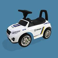 Машина-каталка RR Полиция, цвет: белый, с электроникой (, гр. уп-ка: гф/ящ)
