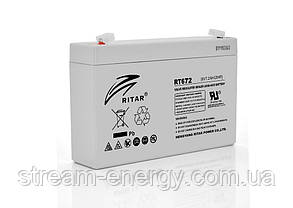 Акумулятор AGM Ritar (6В -7,2 Ач) RT672