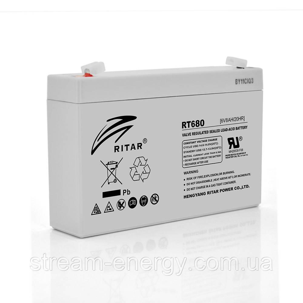 Аккумулятор AGM Ritar (6В -8Ач) RT680