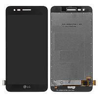 Дисплей для LG K7 (2017) X230, модуль в сборе (экран и сенсор), черный, оригинал