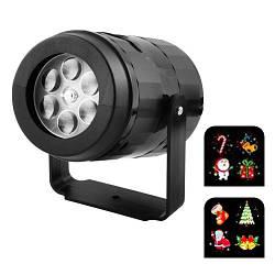 Лазер диско проектор W886-1, 2 вкладыша с картинками