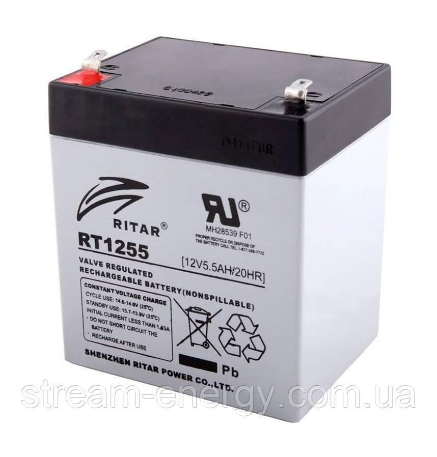 Аккумулятор AGM Ritar (12В -5,5Ач) RT1255