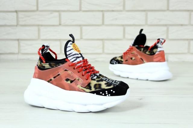 Женские леопардовые кроссовки  фото