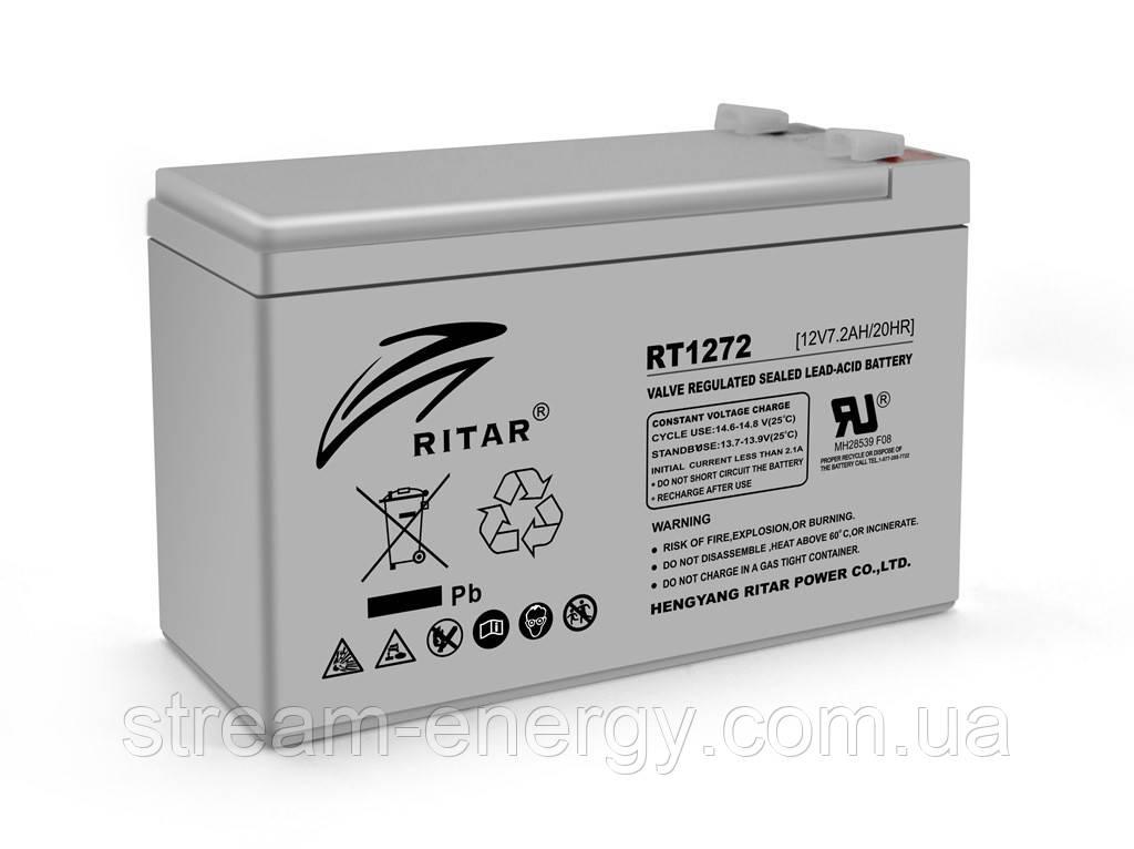 Аккумулятор AGM Ritar (12В -7,2Ач) RT1272