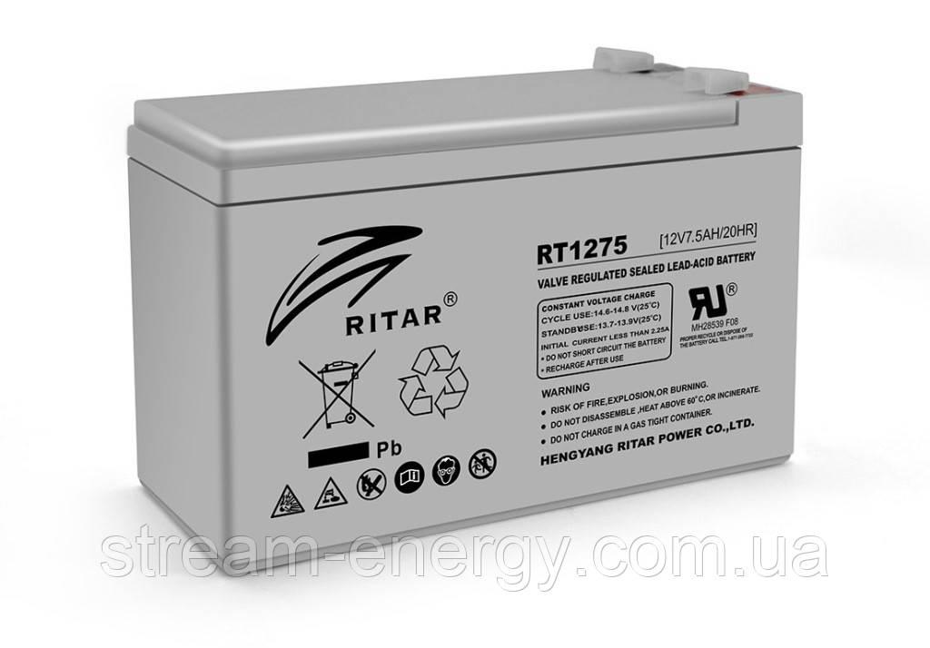 Аккумулятор AGM Ritar (12В -7,5Ач) RT1275