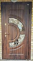 Дверь входная Орион со стеклом и ковкой серии Комфорт ТМ Каскад