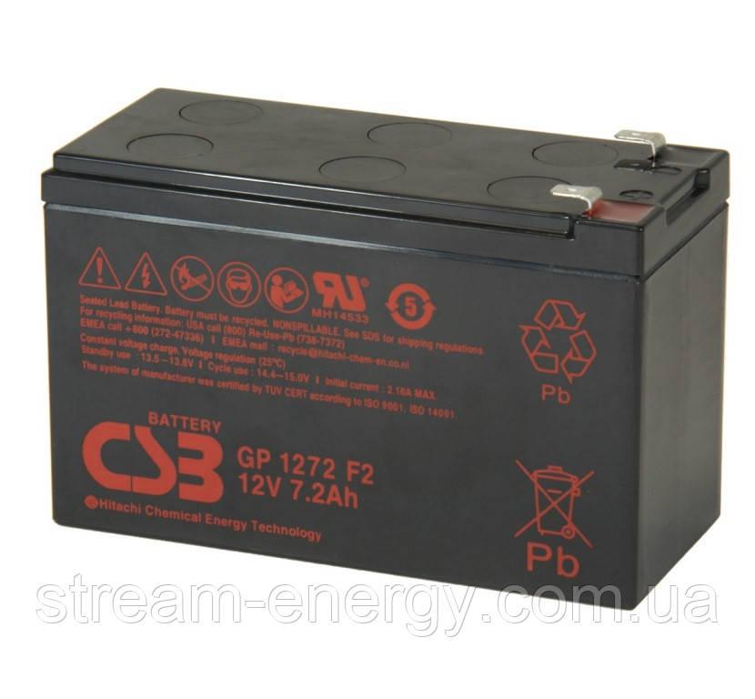 Акумуляторна батарея CSB 12В - 7,2 Ач) GP1272F2