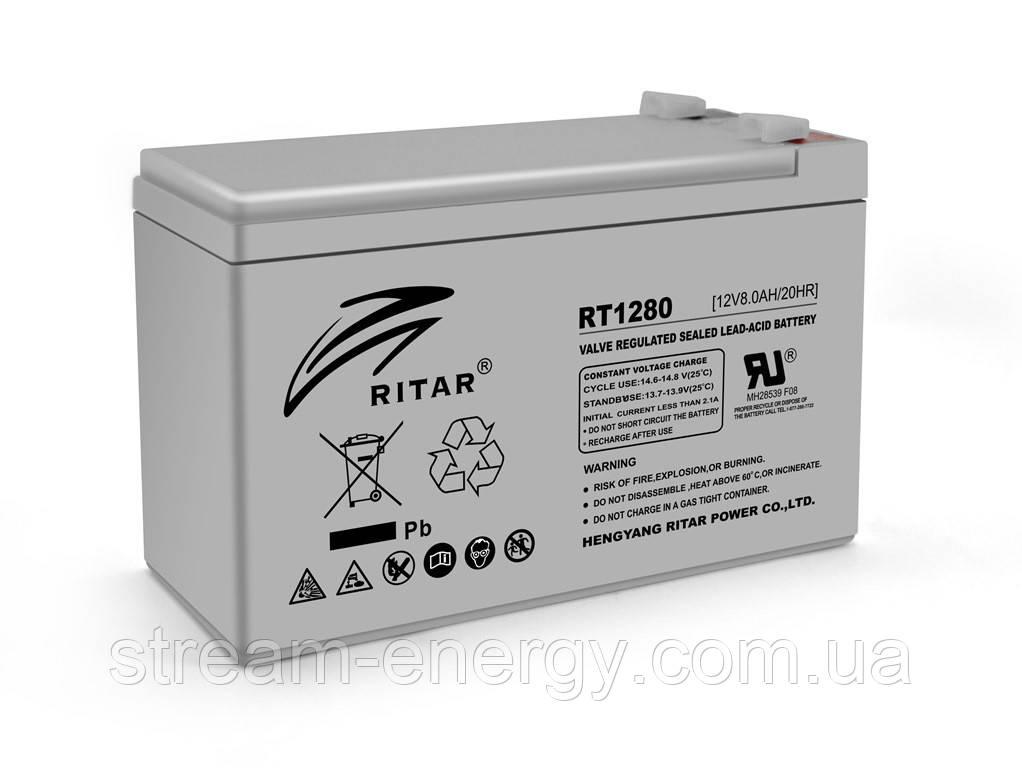 Аккумулятор AGM Ritar (12В -8Ач) RT1280