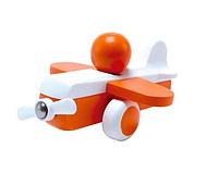 Дерев'яна іграшка Hape Літачок помаранчевий