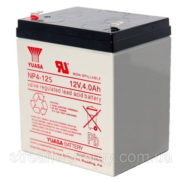 Аккумулятор для ИБП Yuasa (12В - 4Ач) NP4-12s