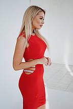 """Облегающее трикотажное мини-платье """"DINA"""" с вырезами по бокам (3 цвета), фото 3"""