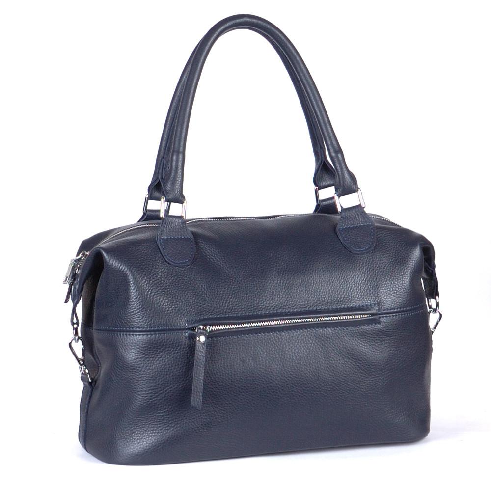 Женская кожаная сумка 47 синий флотар 01470103