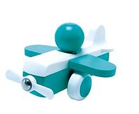 Дерев'яна іграшка Hape Літачок блакитний