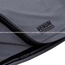 Компрессионная футболка Venum Contender 3.0 Compression T-shirt Short Sleeves Heather Grey/Black, фото 3