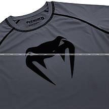 Компрессионная футболка Venum Contender 3.0 Compression T-shirt Short Sleeves Heather Grey/Black, фото 2