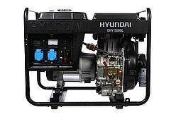 Одновазный дизельный генератор Hyundai DHY 5000L (4.6 кВт)