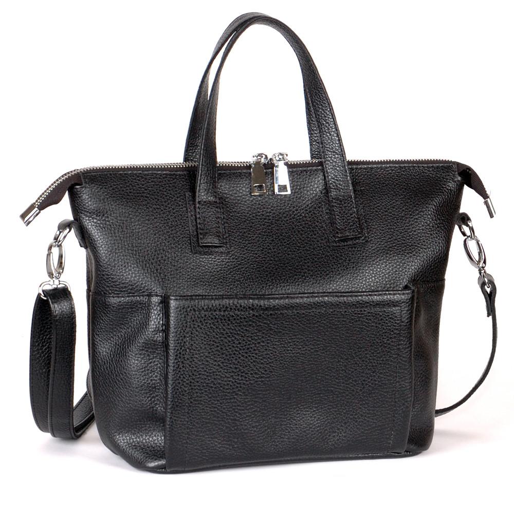 Женская кожаная сумка 45 черный флотар 01450101