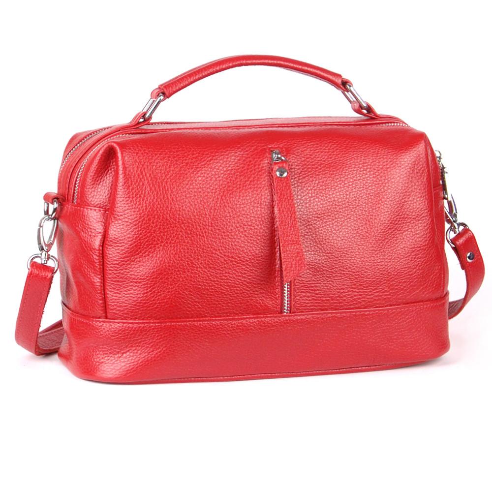 Женская кожаная сумочка 44 красный флотар 01440107
