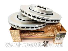 Передние тормозные диски 280мм (комплект) на Рено Каптюр / Renault (Original) 402069518R