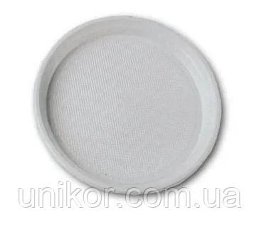 Тарелка столовая, d=20.5 см, 100 шт./уп. белые, Украина