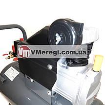 Компрессор поршневой воздушный ресивер 50 л. одноцилиндровый 1.5 кВт, фото 3
