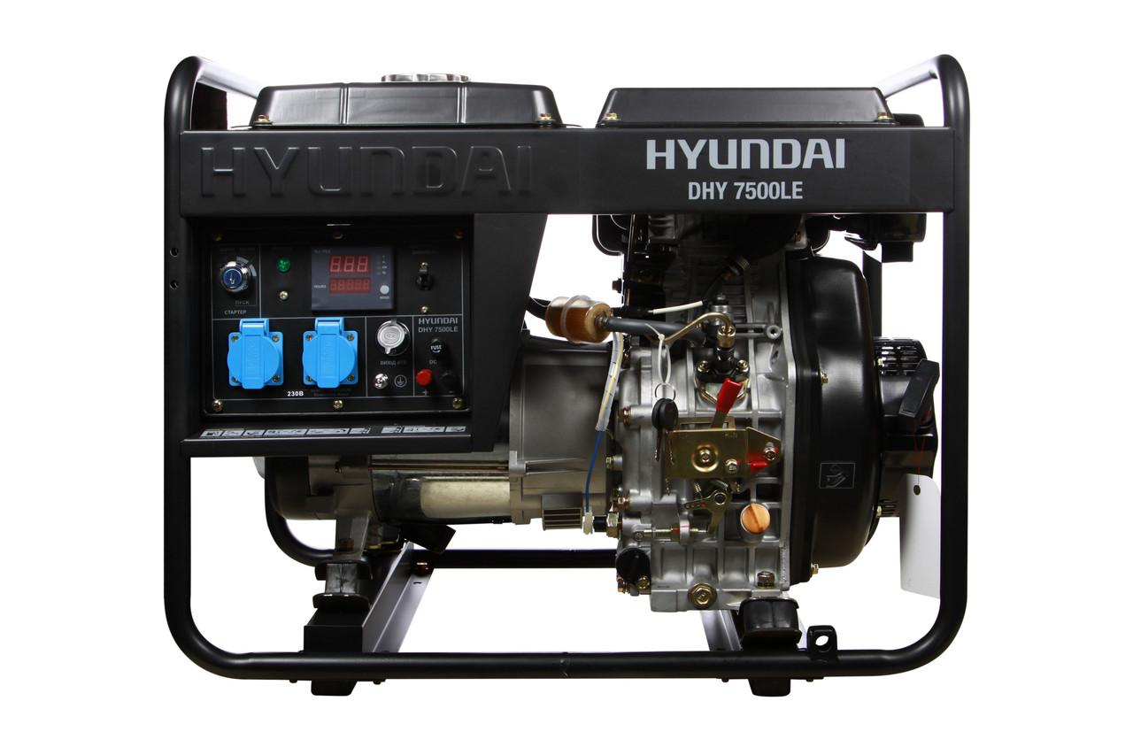 Дизельный генератор Hyundai DHY 7500LE (6 кВт)